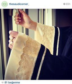Abaya sleeves. Lace ♡ #abaya