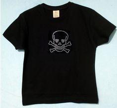 Totenkopf Skull Strass T-Shirt für coole Kids von ClaudioCrissi