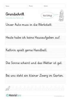 Rechnen Lernen Vorschule – Rebel Without Applause Writing Practice For Kids, Alphabet Writing Practice, Sentence Writing, Kids Writing, Grammar Worksheets, Alphabet Worksheets, Cycle 2, German Language Learning, Simple Sentences