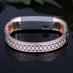 bayite Jewelry Bangle/ Band For Fitbit Alta - Rose Gold with White Rhombus - High Quality Life Style Fashion Bracelets, Jewelry Bracelets, Bangles, Fit Bit, Fitbit Alta, Jewellery Designs, Metal Jewelry, Fashion Accessories, Rings For Men