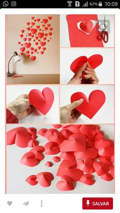 Incredible DIYs for Valentine's Day Craft … – Valentinstag Valentines Day Decorations, Valentine Day Crafts, Diy Crafts For Birthday, Valentine Ideas, Holiday Crafts, Easy Decorations, Home Decoration, Diy Paper, Paper Crafting