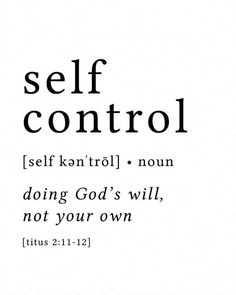 Self Control Print / Definition Print / Fruit of the Spirit / Fruits of the Spirit / Bible Verse Pri #BibleSayings