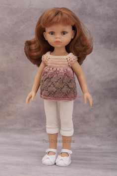 Paola Reina outfit knit doll clothes for Corolle les Cheries