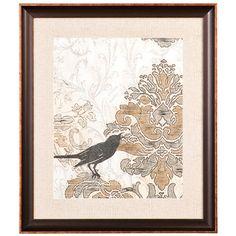 Damask Songbird 1  22x25 framed