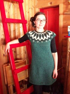 Who wants to knit me this? :) | Ravelry: Icelandic Style Dress pattern by Anny Dubé