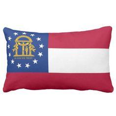 State Flag Of Georgia Throw Pillows