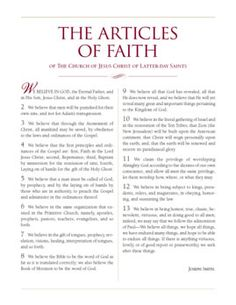 LDS Young Women: Articles of Faith game