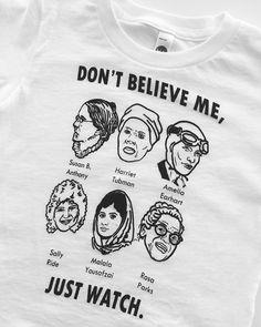 There are 10 tips to buy this t-shirt: shirt susan b anthony harriet tubman amelia earheart sally ride malala yousafazi rosa parks white feminist feminism white.