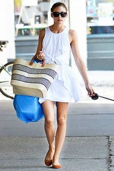 """6ae84d20433 hollywoodcom  """" Socialite Olivia Palermo was spotted walking her dog"""