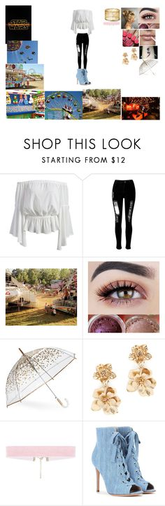 """""""Movie , Karaoke , and county fair date"""" by biphangirl666 on Polyvore featuring WithChic, Misa, ShedRain, Oscar de la Renta and Gianvito Rossi"""