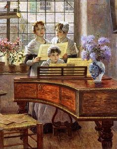 Walther Firle (1859–1929) — Around the Piano