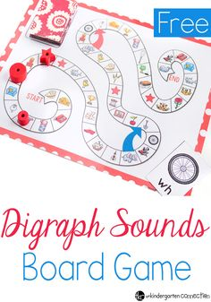 This free digraphs board game is perfect for beginning readers that are learning digraph sounds!