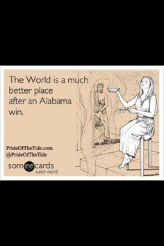 True Story - Especially after a SEC Championship game like that!! Crimson Tide Football, Alabama Football, Alabama Crimson Tide, Roll Tide Alabama, College Football, Alabama Baby, Sweet Home Alabama, Alabama Decor, Bama Fever