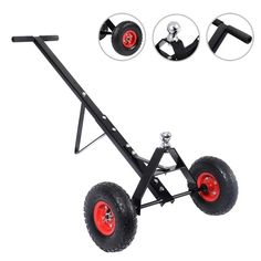 This Is Our 600 Lbs Trailer Dolly,Which Is Feature An Extra-Long Handle.Just What You Need For Easy Manual Maneuverability Of Utility, Boat, Cargo, Jet-Ski And Other Small Trailers.
