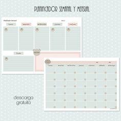 Planificador semanal y mensual - free