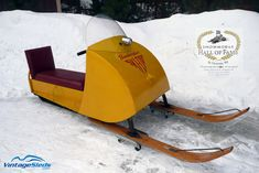 The first Ski-doo - my, things have come along way.
