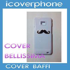 Cover Custodia CaseStrass Brillantini per samsung s2 moustache case moda 2014 S2