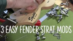 Fender Squier Stratocaster Mods - 3 Easy Mods to Make Your Strat Play Gr. Guitar Classes, Fender Squier, Trade Secret, Guitar Building, Fender Stratocaster, Electric Guitars, Make It Yourself, Play