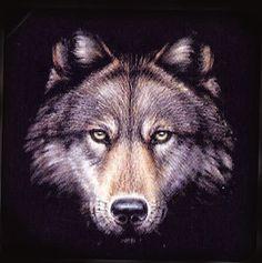 Imagem de rosto de lobo