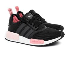 best website de9fe 503d9 Femme Adidas NMD R1 Runner Noir Peach Rose S75234 Adidas Shoes Women, Nike  Shoes,