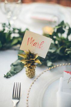 pineapple wedding ideas - photo by Chloe Murdoch Photography http://ruffledblog.com/romantic-costa-rica-wedding