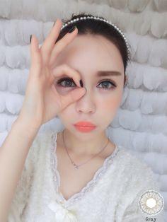 Cosmetic Colored Prescription Contact Lens Charming Nice Cinderella OL (Gray)
