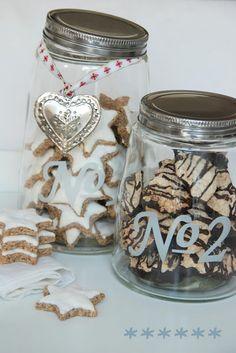 Gift idea - jar of Christmas Cookies with ornament tied with ribbon