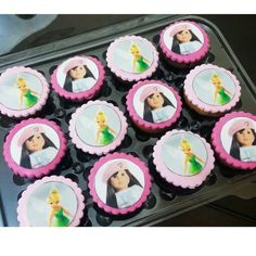 Tinkerbell and americangiel cupcakes