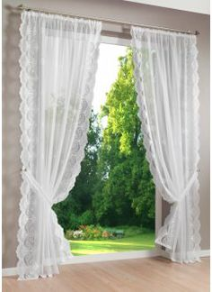 Shabby Chic Curtains, Home Curtains, Sewing Room Decor, Bedroom Decor, Home Design Decor, House Design, Home Decor, Rideaux Shabby Chic, Corner Shelf Design
