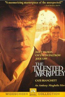 """The Talented Mr. Ripley"" - 1999 - Matt Damon, Gwyneth Paltrow, Jude Law, Philip Seymour Hoffman, Actors - Anthony Minghella, Director - Nominated for 5 Oscars"