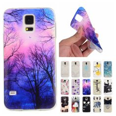 For Coque Samsung S5 Case Silicone Cartoon Transparent Cover for Samsung Galaxy S 5 I9600 G900 G900F Slim TPU Soft Phone Cases