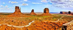 Mittens Courthouse Monument Vally Panorama by Bob Johnston!!