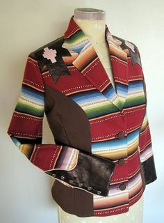 Southwestern Blanket Stripe Jacket  Rodeo Queen Western by RockinB, $1200.00