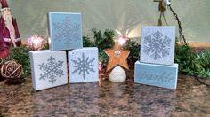 Silvery snowflakes