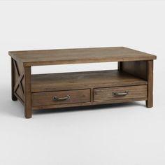 Wood Farmhouse Coffee Table - v1