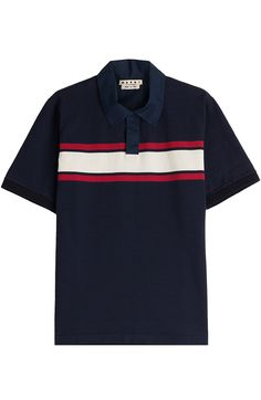 MARNI Cotton Polo Shirt With Colorblock Stripe.  marni  cloth  t-shirts afd8255e1c721