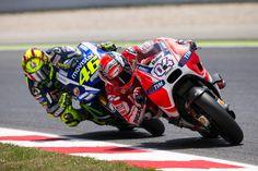 Andrea Dovizioso, Valentino Rossi - Catalan GP, MotoGP