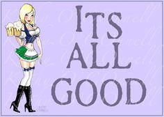 "German Beer Maid ""It's all good"""