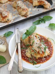 This crispy chicken Parmesan will have everyone fooled that it came out of the…