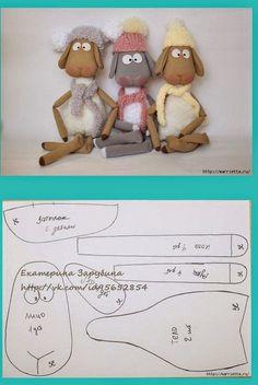 ARTE COM QUIANE - Paps,Moldes,E.V.A,Feltro,Costuras,Fofuchas 3D: Molde Trio de Ovelhinhas delicadas