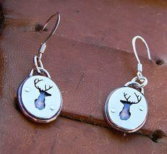Deer head earrings