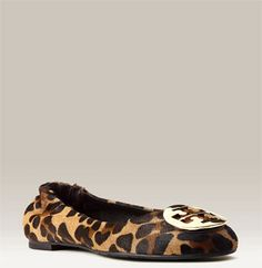 Tory Burch leopard print flat. These are really cute too. I love the pattern. It's always fun to make the focal point of an outfit the shoes.