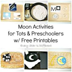 Moon Activities for Tots & Preschoolers w/ Free Printables (Learn & Play Link Up)