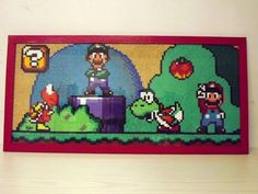 Super Mario World perler bead design by ~Kadric on deviantART