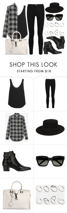 """""""Style #10981"""" by vany-alvarado ❤ liked on Polyvore featuring Frame Denim, Victoria, Victoria Beckham, Yves Saint Laurent and ASOS"""
