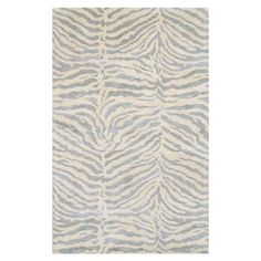 Joss & Main- Sarabi Rug Bring a touch of exotic appeal to your living room or master suite with this hand-tufted wool and art silk rug, showcasing a light blue zebra-stripe motif. A Thoughtful Place, Textiles, Hand Tufted Rugs, Contemporary Area Rugs, Blue Ivory, Joss And Main, Throw Rugs, Rug Runner, Blue Area Rugs