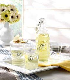 Martha Stewart Crafts® Monogram Drink Set