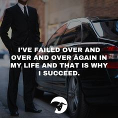 We're often taught that failure is a bad thing. While it may be true in the short-term the most successful people are those who have failed the most. The more you try the more you fail -- but the better your odds are of success. ------------------------------------------------------------------- #quote #trading #stocktrading #stocks #success #motivational #car #power #failure #ceo #boss #wealthy #luxurylife #luxurycar #livetraders #committed #commit #dedication #goal #freedom #prosperity…