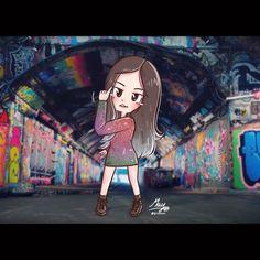 [FA] I'm going solo lo lo lo lo 🤫☝️ Girl Cartoon, Cartoon Art, Black Pink Kpop, Blackpink And Bts, Jennie Blackpink, Kpop Fanart, Tumblr Girls, Cute Designs, Kawaii