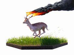 Josh Keyes, naturaleza en peligro (Yosfot blog)